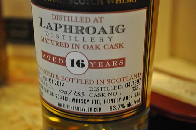 Laphroaig 16  1997 (cask 3320) - Duncan Taylor 53.7%